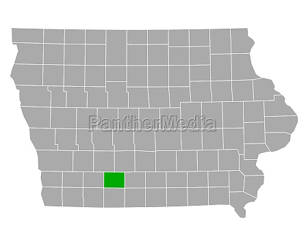 map of union in iowa