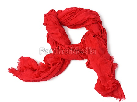 red fashion cotton red scarf isolated