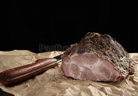 a baked piece of spiced pork