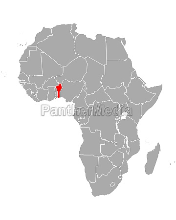 map of benin in africa