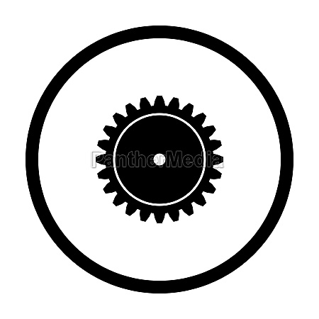 gear and circle