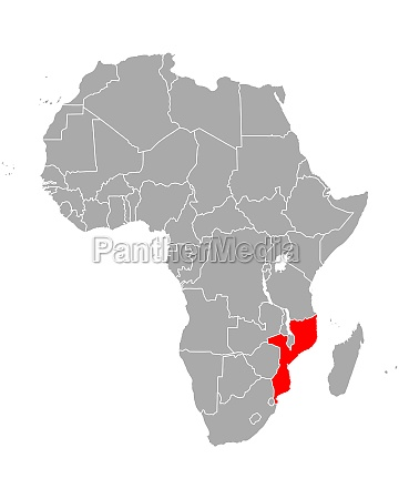 map of mozambique in africa