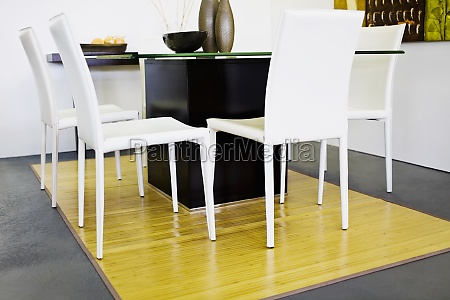 chairs with a table in a