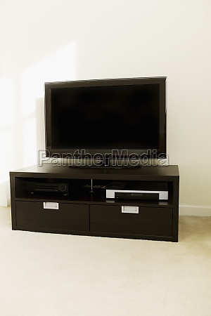 lcd television on a table