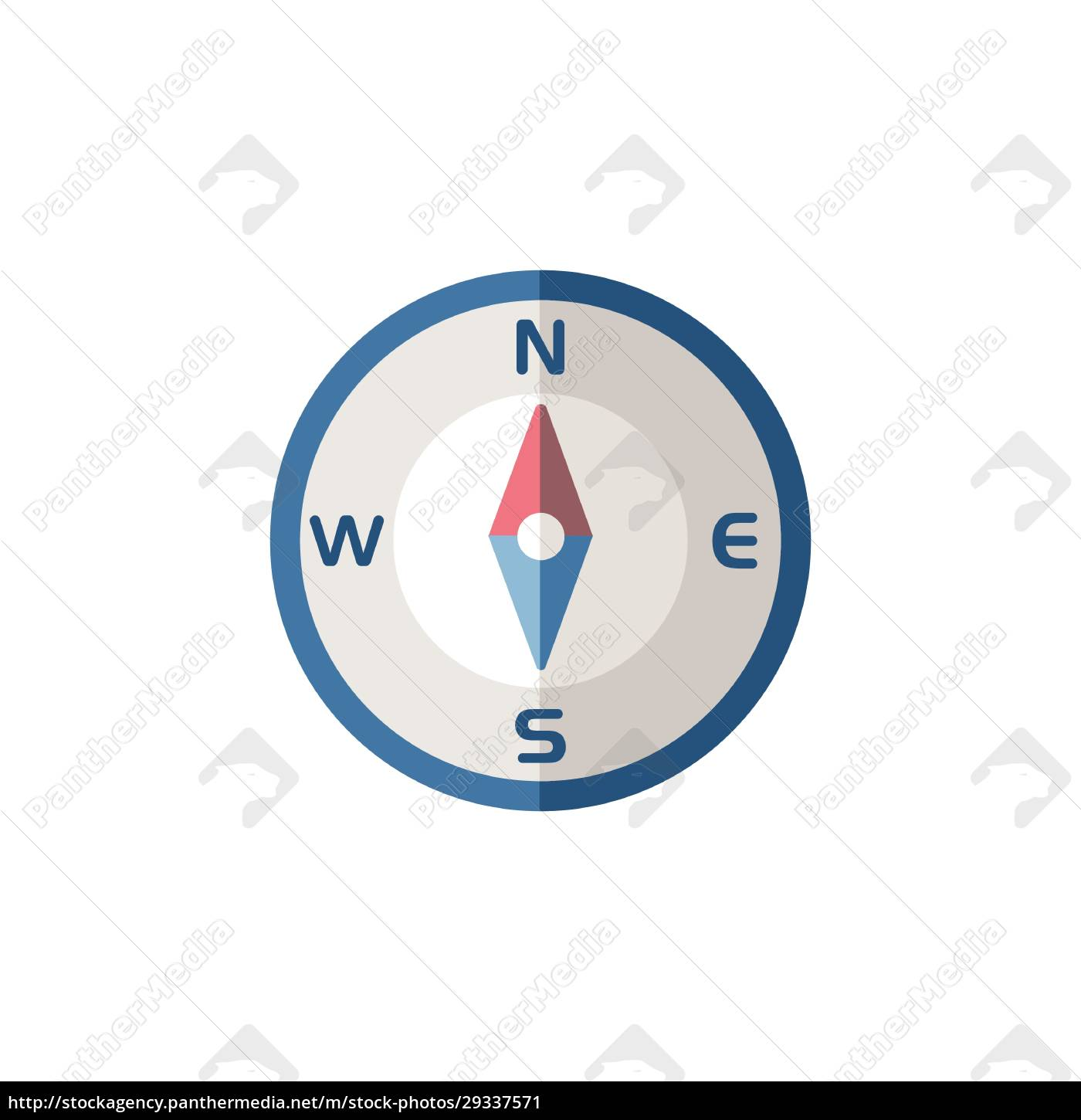 compass, north, direction., flat, icon., isolated - 29337571