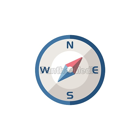 compass, north, east, direction., flat, icon. - 29337574