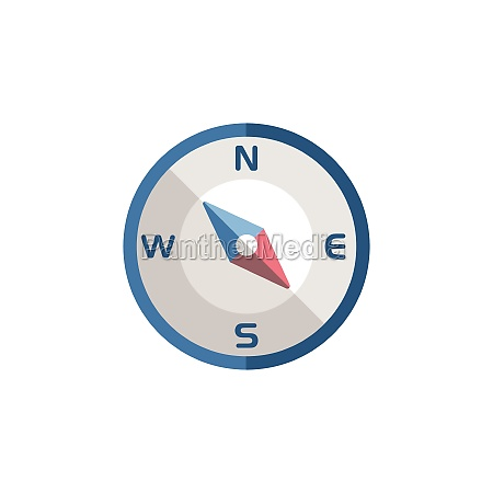 compass, south, east, direction., flat, icon. - 29337587