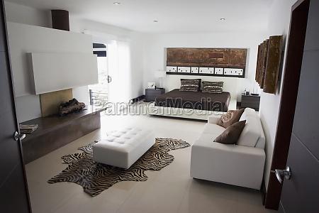 interiors of a loft apartment