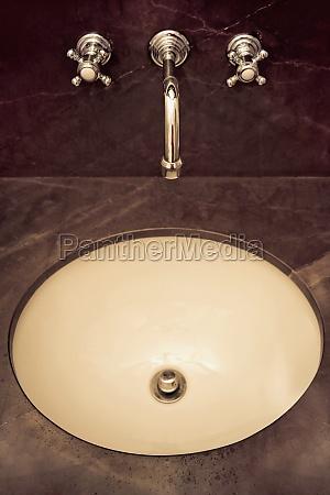 bathroom sink in the bathroom