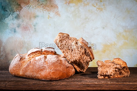 country bread with floured crust with