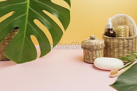 natural bath accessories set of natural