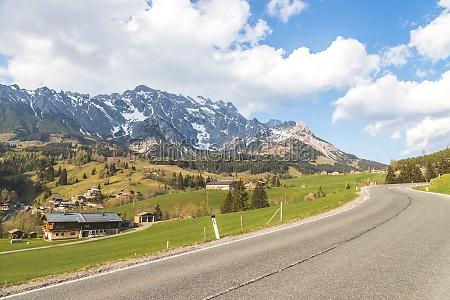 idyllic alpine mountain range hochkoenig mountain