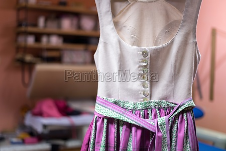 close up of a traditional dirndl