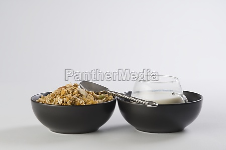 closeup of breakfast cereal with a