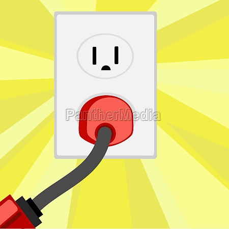 electric plug in an outlet