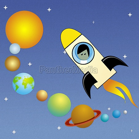 rocket in the solar system