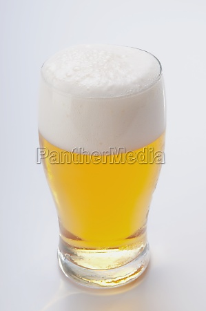 closeup of a beer glass