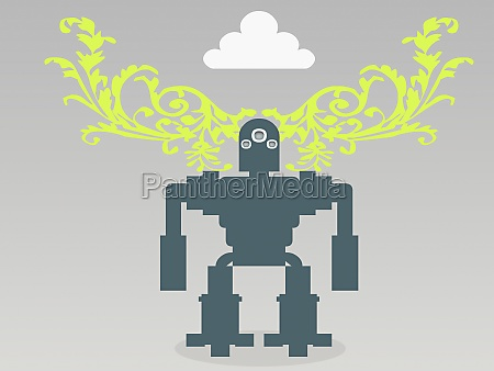 close up of a robot
