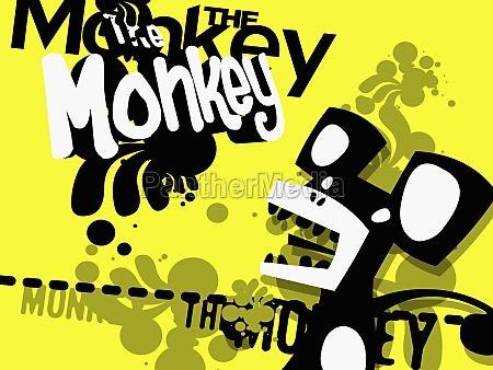 close up of a monkey