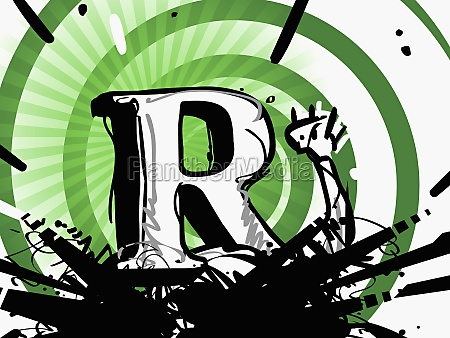 the letter r on a personZs