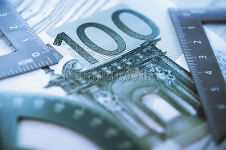 closeup of a one hundred euro