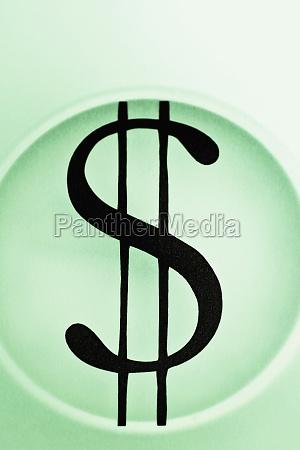 closeup of the dollar sign