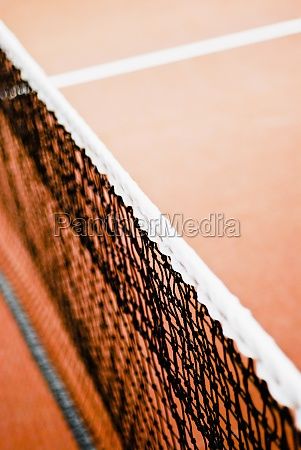 closeup of a tennis net