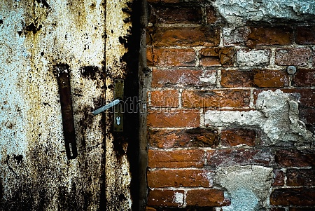 closeup of a weathered door