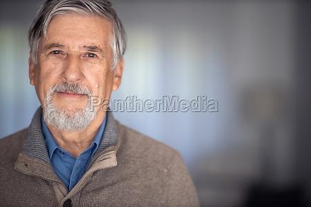 portrait of happy senior man smiling