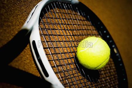 closeup of a tennis ball on
