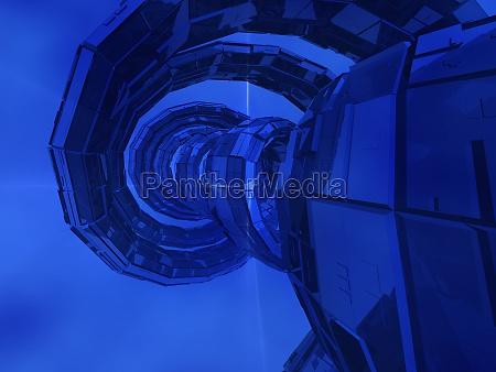 spiral pattern on a blue background