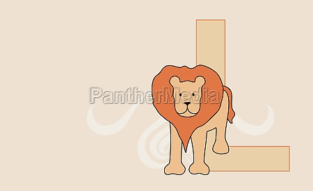 the letter l with a lion