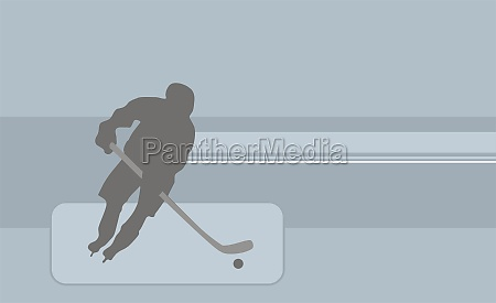 person playing ice hockey