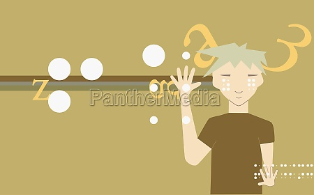 person waving