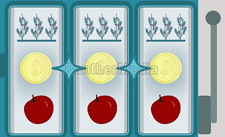 coins with crops and fruits on