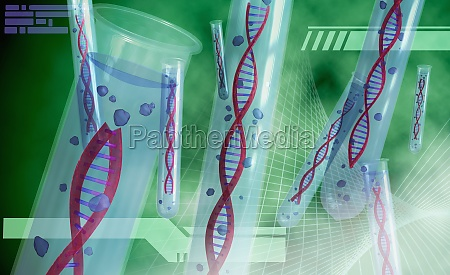 dna structures in test tubes
