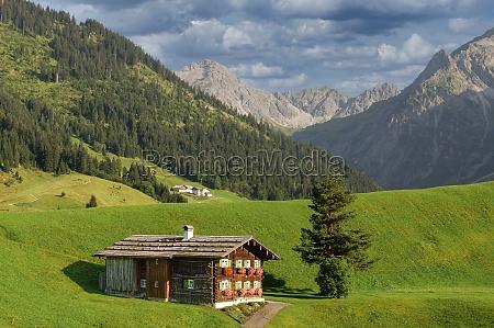 landscape in kleinwalsertal vorarlberg austria
