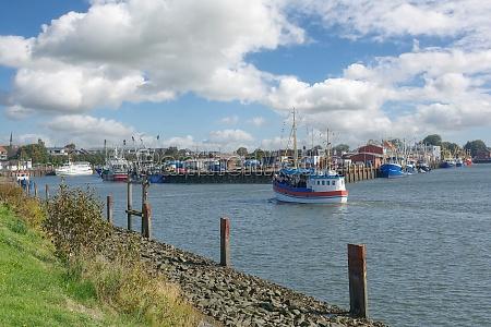 harbor of buesum north sea north
