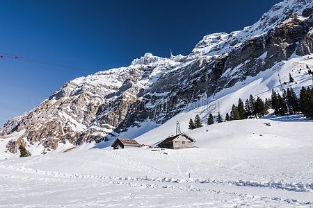 winter landscape on the schwaegalp with