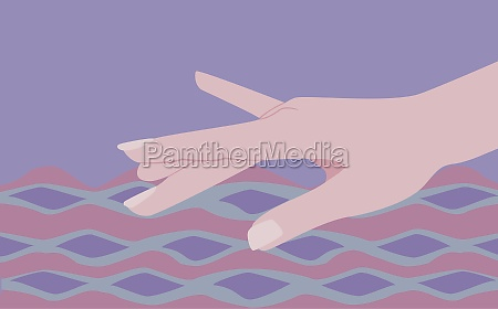 personZs hand touching water