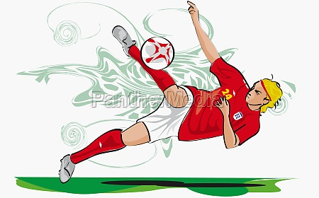 soccer player playing soccer