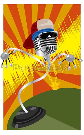 microphone with a hat and a
