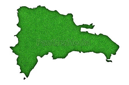 map of dominican republic on green