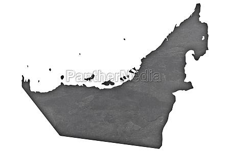map of united arab emirates on
