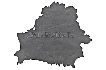 map of belarus on dark slate