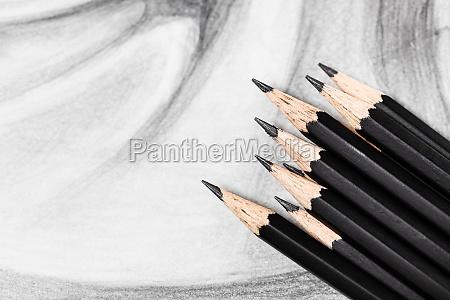 graphite pencil on hand drawn academic