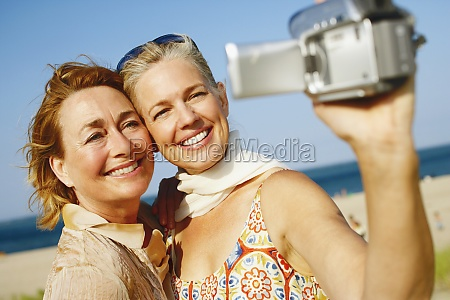 close up of two mature women