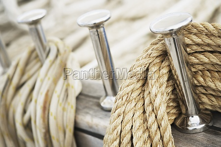 close up of pegs and ropes