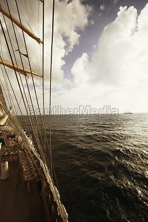 ship sailing in the sea