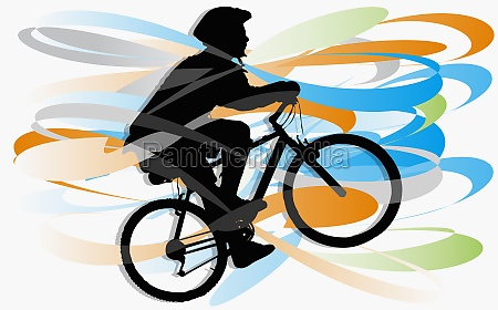 person riding a bicycle